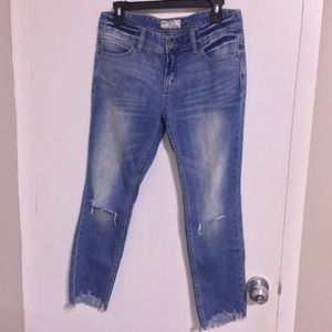 Free People Distresses Ankle Jeans